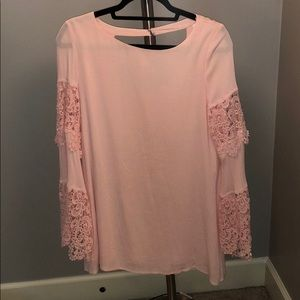 Pink Dress with beautiful lace sleeves!
